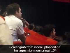 In Viral Video, Rahul Gandhi Seen Watching Movie In Delhi Theatre