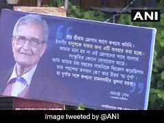 "Posters With Amartya Sen's Remarks On <i>""Jai Shri Ram""</i> Slogan In Kolkata"