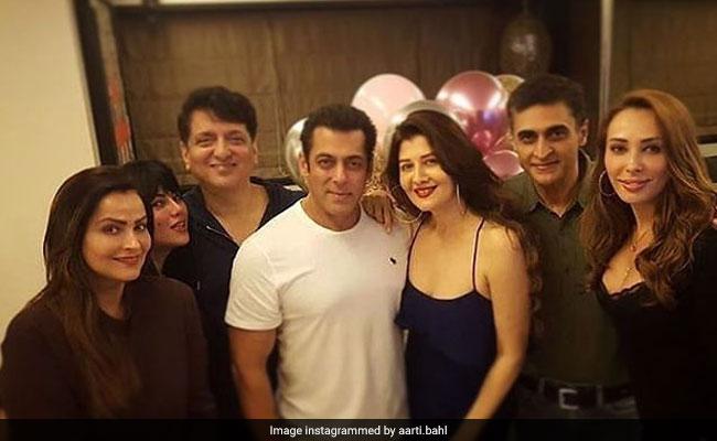 Salman Khan At Ex-Girlfriend Sangeeta Bijlani's Birthday Party. His Plus One - Iulia Vantur
