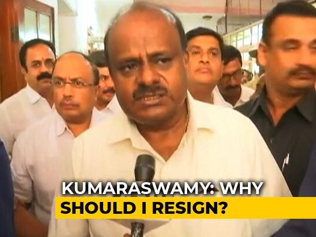 "Video : ""What's The Necessity For Me To Resign Now"": HD Kumaraswamy On Karnataka"
