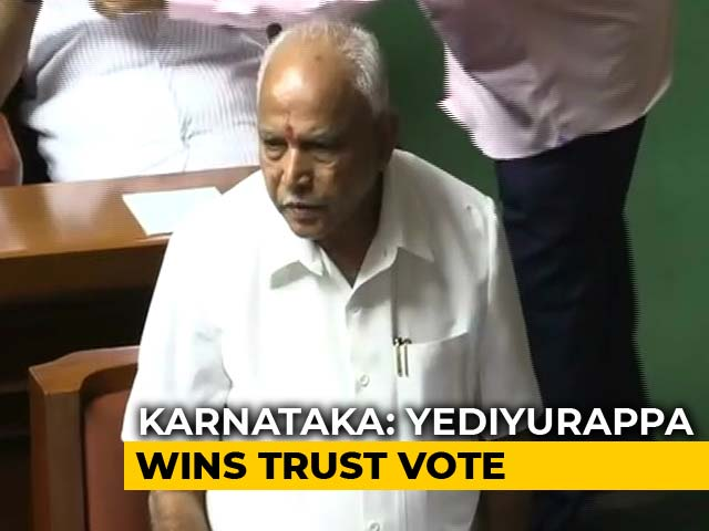 Video : BS Yediyurappa Wins Karnataka Trust Vote, Speaker Resigns Soon After