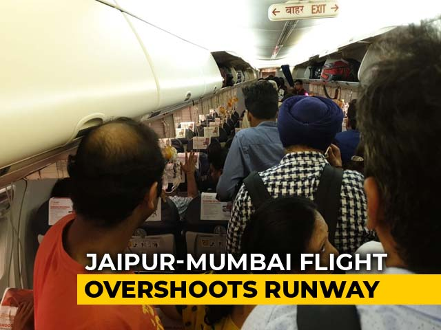 Video : SpiceJet Plane Overshoots Runway While Landing In Rain At Mumbai Airport