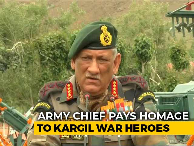 "Video : ""Soldiers Must Be Empowered,"" Says Army Chief On Kargil War Anniversary"