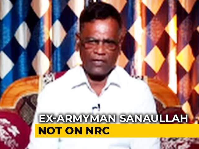 "Video : ""NRC Fine But Genuine Indians Shouldn't Be Excluded"": Ex-Armyman Who Was Detained"
