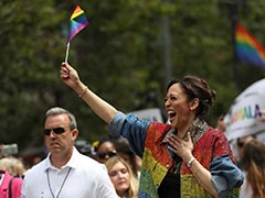 US Senator Kamala Harris Dances At Pride Parade In San Francisco