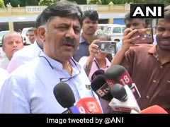 """Confident Legislators Will Not Leave"": DK Shivakumar On Karnataka Crisis"