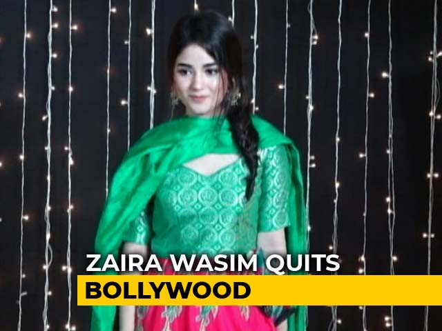 "Video : <i>Dangal</i> Actor Zaira Wasim's ""Resignation Note"" Draws Barbs, Support"