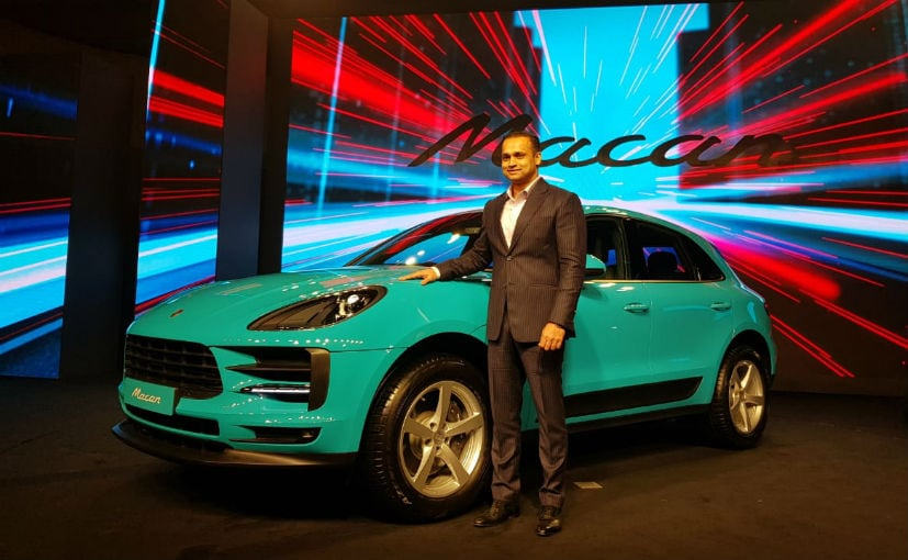Porsche India Director Pavan Shetty with the new Porsche Macan facelift