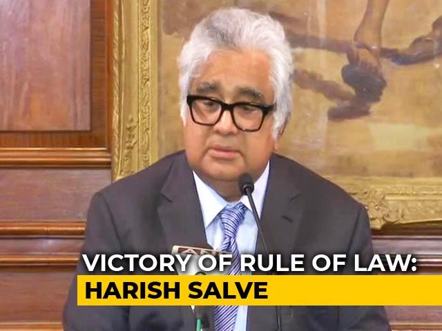 Video : Pak's Conduct Under Watch, Harish Salve Tells After Kulbhushan Jadhav Verdict