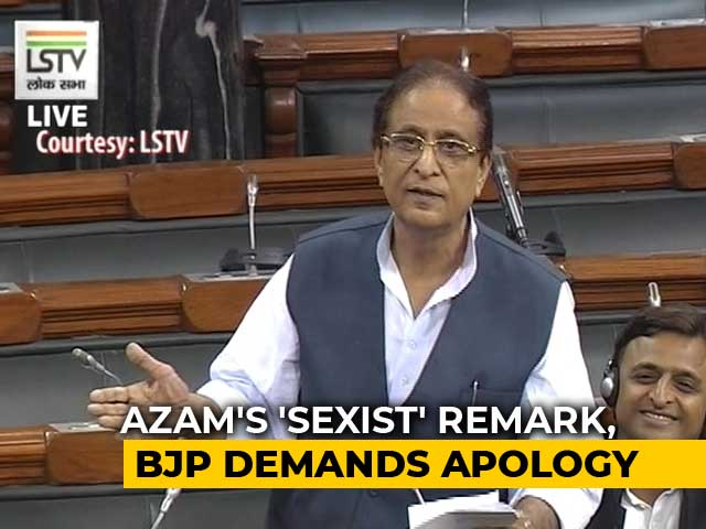 "Video : Row Over Azam Khan's Sexist Remarks In Parliament. ""Sister"", He Clarifies"