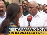 "Video : ""HD Kumaraswamy Should Resign Immediately"": BS Yeddyurappa To NDTV"