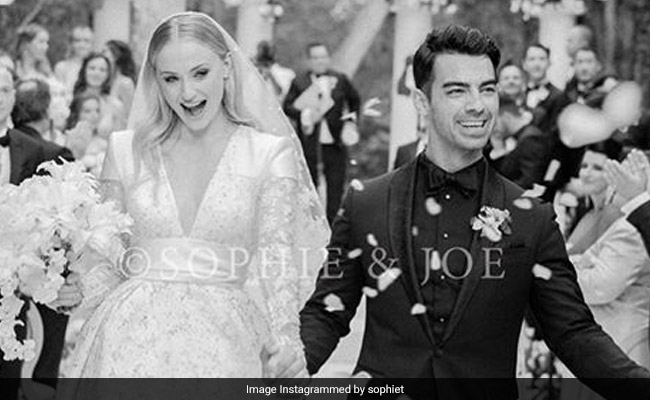 Sophie Turner Wedding.We Came For Sophie Turner Joe Jonas Wedding Pic Stayed For The