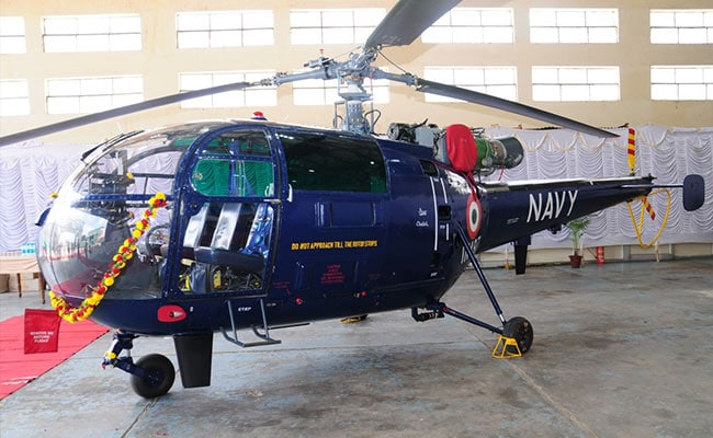 HAL Delivers Chetak Helicopter To Indian Navy