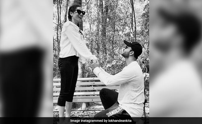 Ankita Lokhande And Vicky Jain Jam Insta Traffic With What Looks Like A Proposal