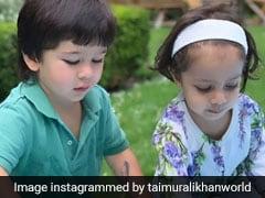 कायनात के साथ पानी के बुलबुले बनाते नजर आए तैमूर अली खान, वायरल हुआ Cute Video