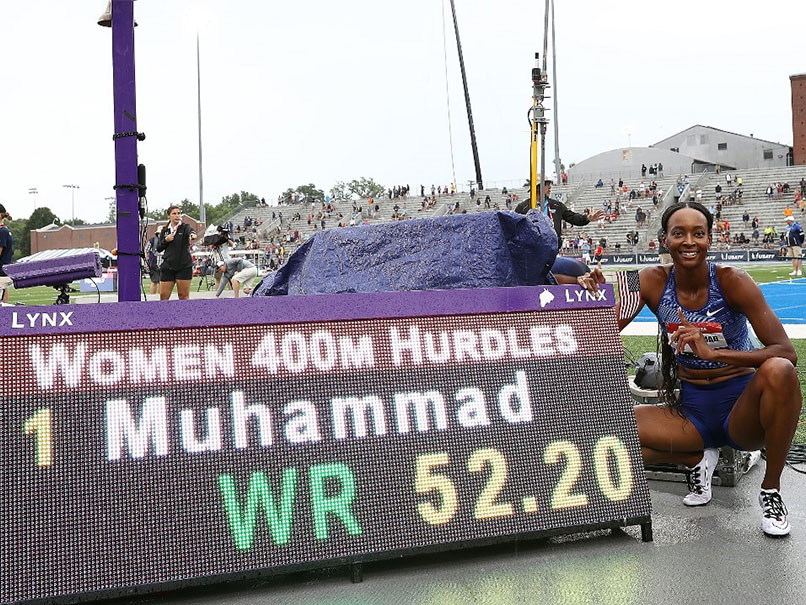 Dalilah Mohammad makes a new world record in 400m hurdles