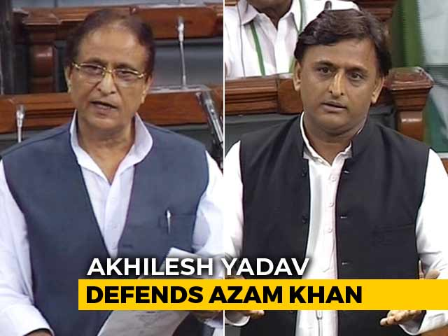 Video : Akhilesh Yadav Defends Azam Khan's Sexist Remarks In Parliament