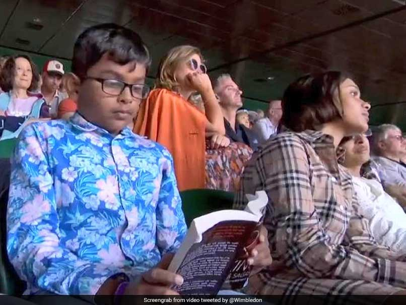 Boy Reading At Roger Federer vs Rafael Nadal Wimbledon Semi-Final Is Twitters Newest Sensation