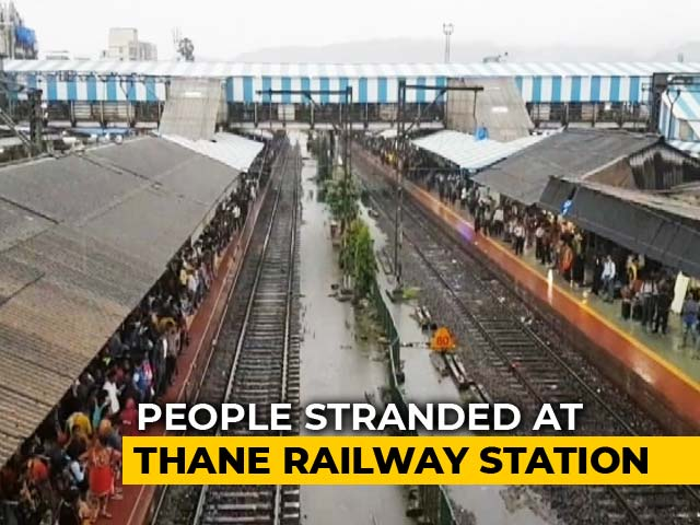 Video : Heavy Rain Leaves Commuters Stranded At Thane Railway Station Since 4 AM