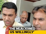 "Video : Goa Congress Rebels ""Came To Us For Development"": BJP Rejects Allegations"