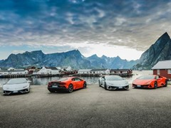 Lamborghini Takes 7 Huracan EVOs On An Expedition Above The Arctic Circle