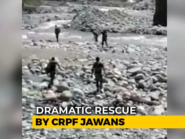 Video : Video: CRPF Men Jump Into River To Rescue Woman In Jammu And Kashmir