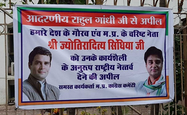 'Jyotiraditya Scindia For Chief' Poster Appears And Vanishes Within Hours In Bhopal