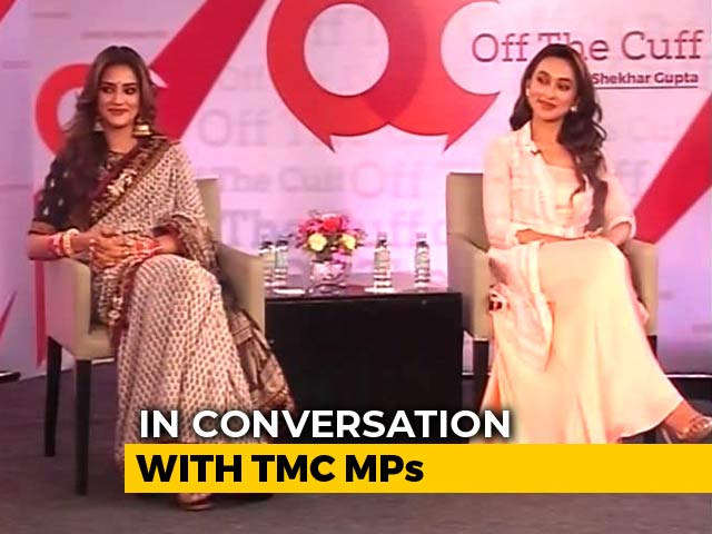 "Video : ""West Bengal Not Burning"": Nusrat Jahan, Mimi Chakraborty On Off The Cuff"