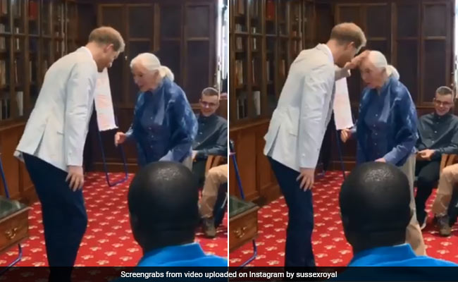 When Prince Harry Met Jane Goodall With A 'Chimp Greeting'. Watch
