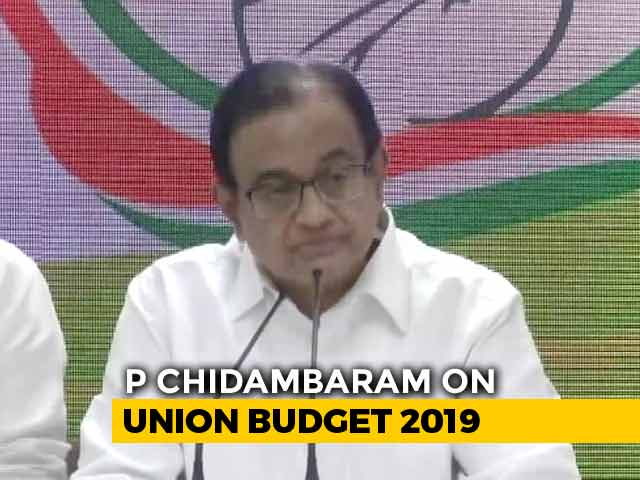 "Video : ""One Of The Most Opaque"": P Chidambaram On Nirmala Sitharaman's Budget Speech"