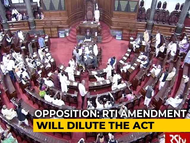 Video : RTI Bill Faces Rough Weather In Rajya Sabha, Government Hits Pause