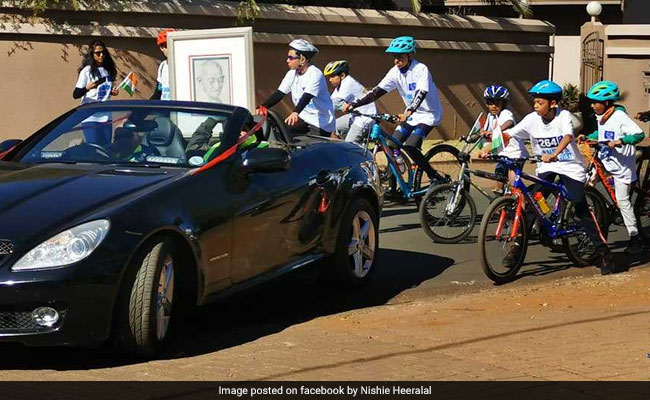 Cycle Rally In South Africa To Celebrate Mahatama Gandhi's Birth Anniversary