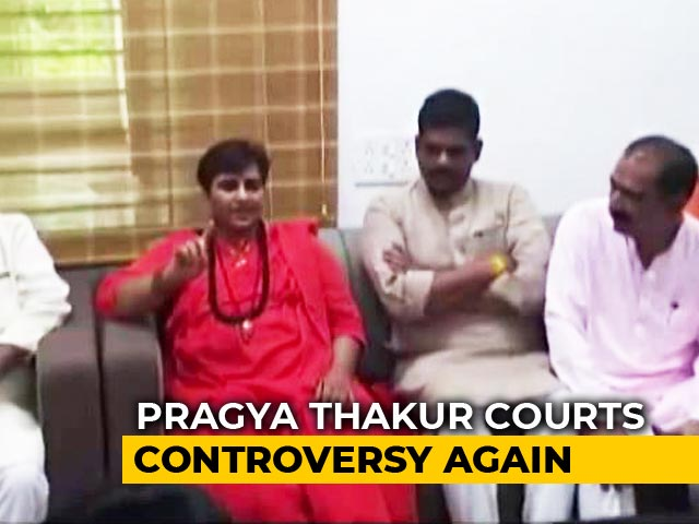 "Video : ""Not Elected To Clean Toilets"": Pragya Thakur On BJP Worker's Complaint"