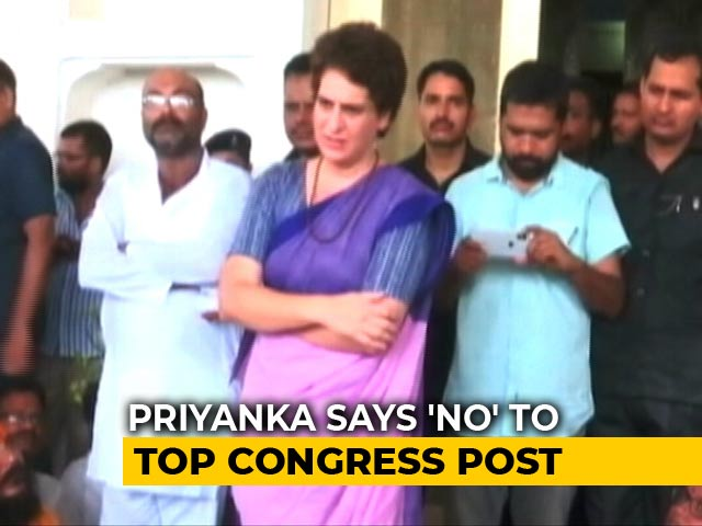 Video : Priyanka Gandhi Turns Down Congress Top Job. There Are 7 More Names