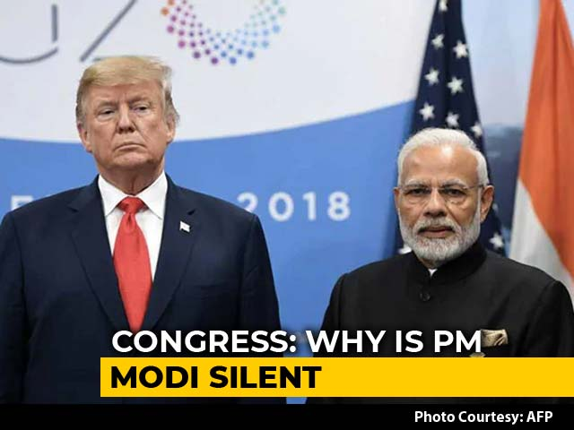 "Video : ""Why Is PM Mum?"" Opposition Wants Discussion On Trump's Kashmir Claim"