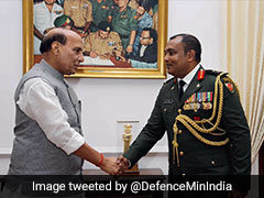 Maldivian Top Defence Official Meets Rajnath Singh, IAF Chief BS Dhanoa