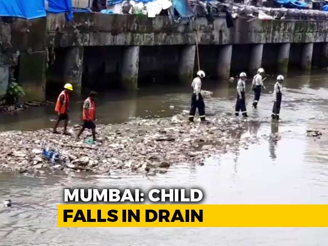 Video : Mumbai Toddler Falls Into Drain On CCTV, Hectic Search To Find Him