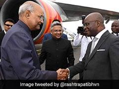 President Ram Nath Kovind Arrives In Cotonou