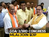 Video : 10 Congress Legislators From Goa Formally Join BJP, Other Allies Jittery