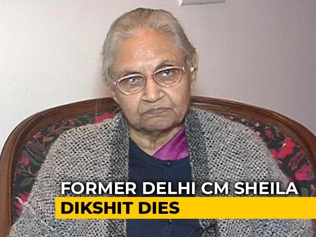 Video : Sheila Dikshit, Three-Time Delhi Chief Minister, Dies At 81