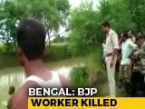 Video : BJP Alleges Trinamool Behind Death Of Its Worker In Bengal's Hooghly