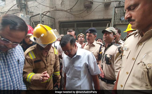 Arvind Kejriwal Visits Site Of Fire, Announces Compensation For Victims