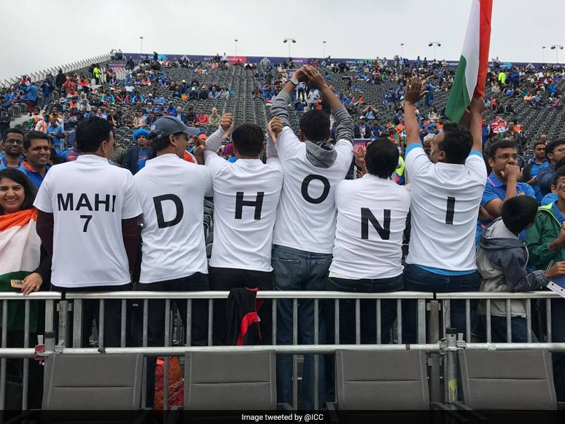 A Set Of Indian Fans At Old Trafford Wore Distinctive Shirts