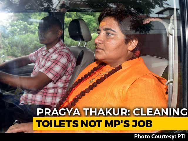 """Video : BJP Pulls Up Pragya Thakur Over """"Not Elected To Clean Toilets"""" Remark"""