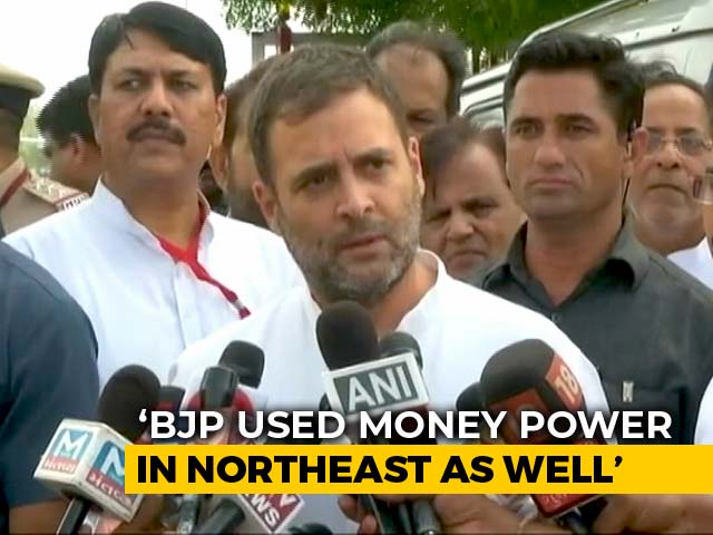 Video : BJP Uses Money Power, Intimidation To Topple Governments: Rahul Gandhi