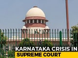 "Video : ""Will Decide By Tomorrow,"" Karnataka Speaker Tells Top Court On Rebels"