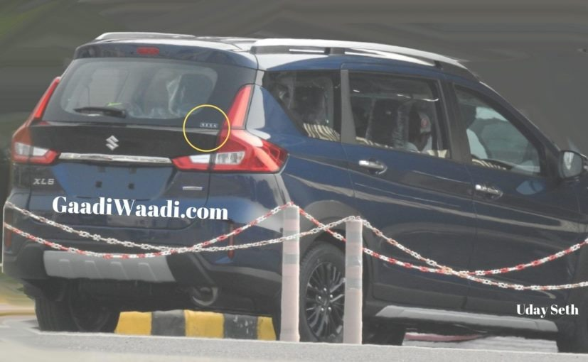 The Maruti Suzuki XL6 gets large roof rails, beefy cladding and other crossover styling element