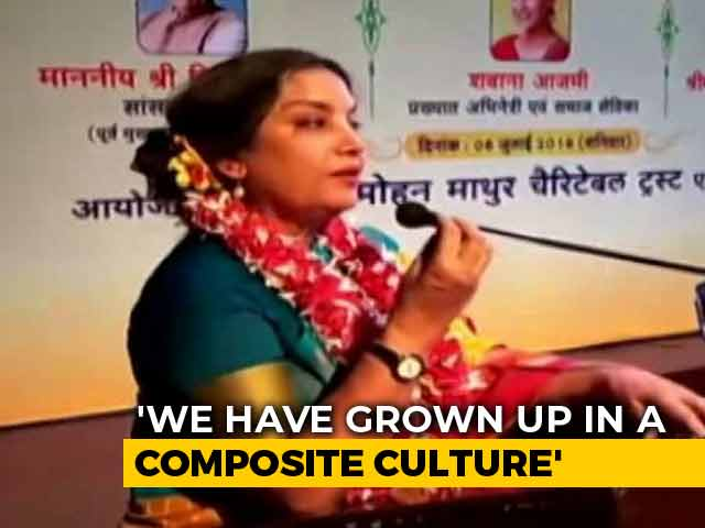Video : Necessary To Always Point Out Country's Flaws, Says Shabana Azmi