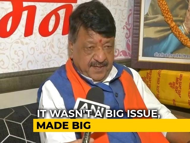 "Video : ""He's A Novice"": BJP's Kailash Vijayvargiya Defends Son Who Hit Official"