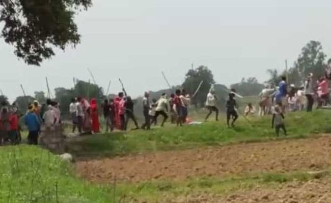 Gunshots, People Fall To Ground, Attacked With Sticks In UP Firing Videos